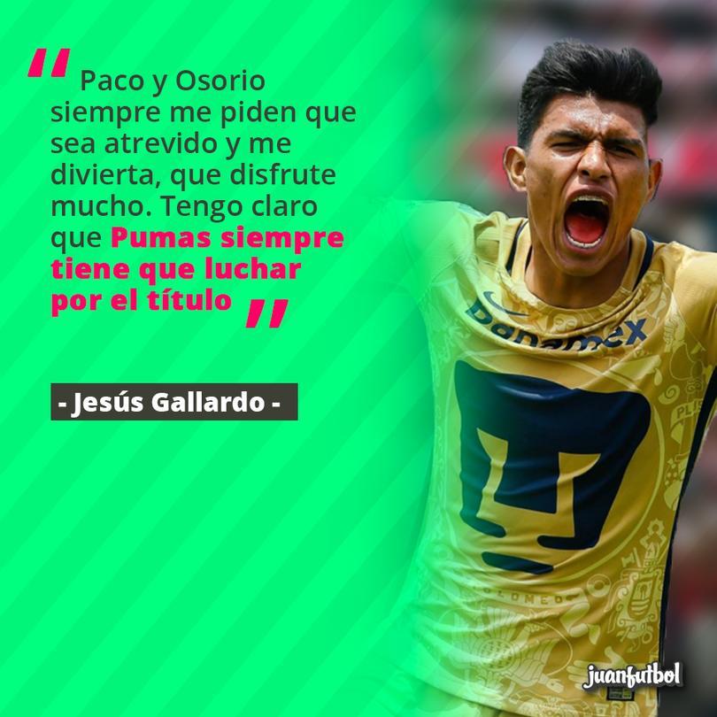 Gallardo afirma que sus entrenadores le piden que disfruten.