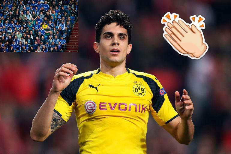 Bartra premia a fiel aficionada del Dortmund