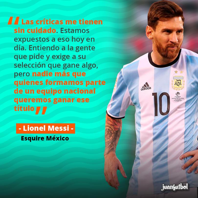 Lionel Messi dice que las críticas por su rendimiento con Argentina lo tienen sin cuidado