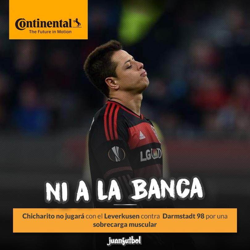 Javier Hernández no se ha recuperado