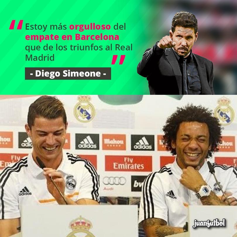 El Cholo dice que prefiere empatarle al Barça que ganarle al Madrid