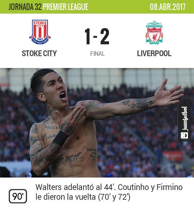 Liverpool venció al Stoke City
