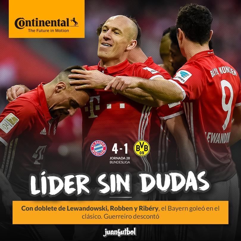 Bayern Munich goleó al Dortmund