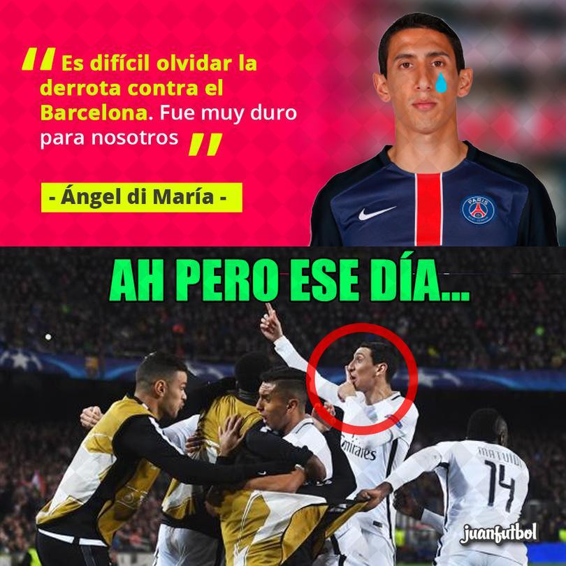 Di María habló sobre la derrota que vivió frente al Barcelona.