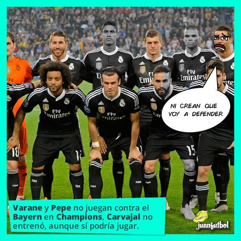 ¿Quién para la defensa del Madrid?