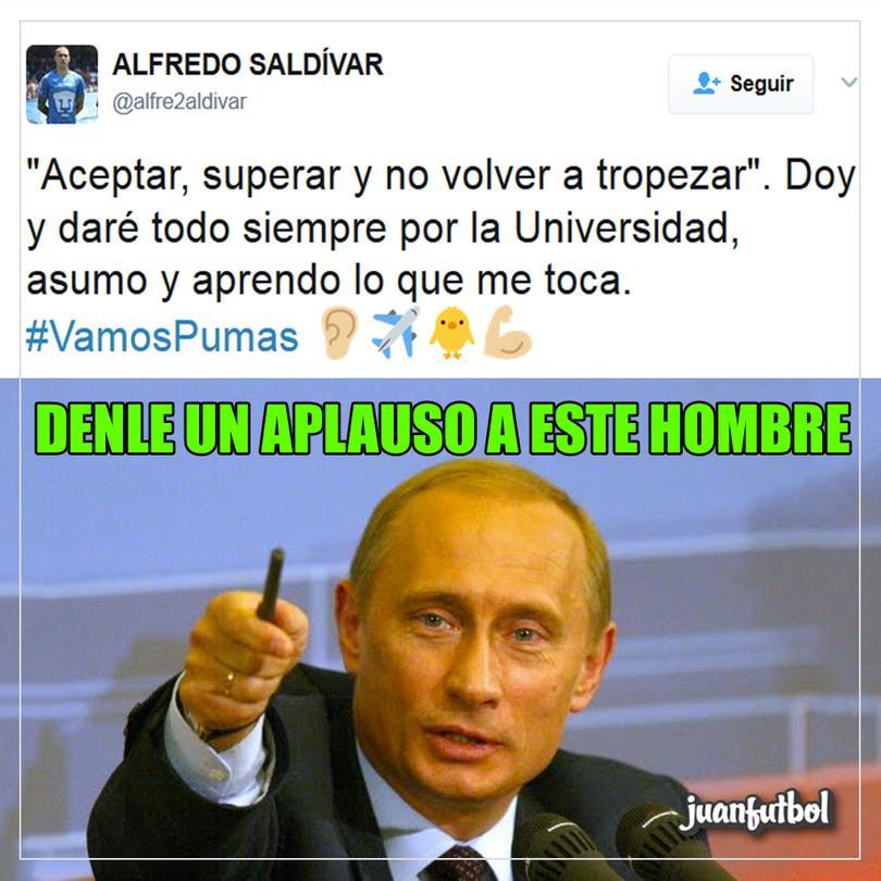 Saldívar afirma que aprendió de su error en CU.