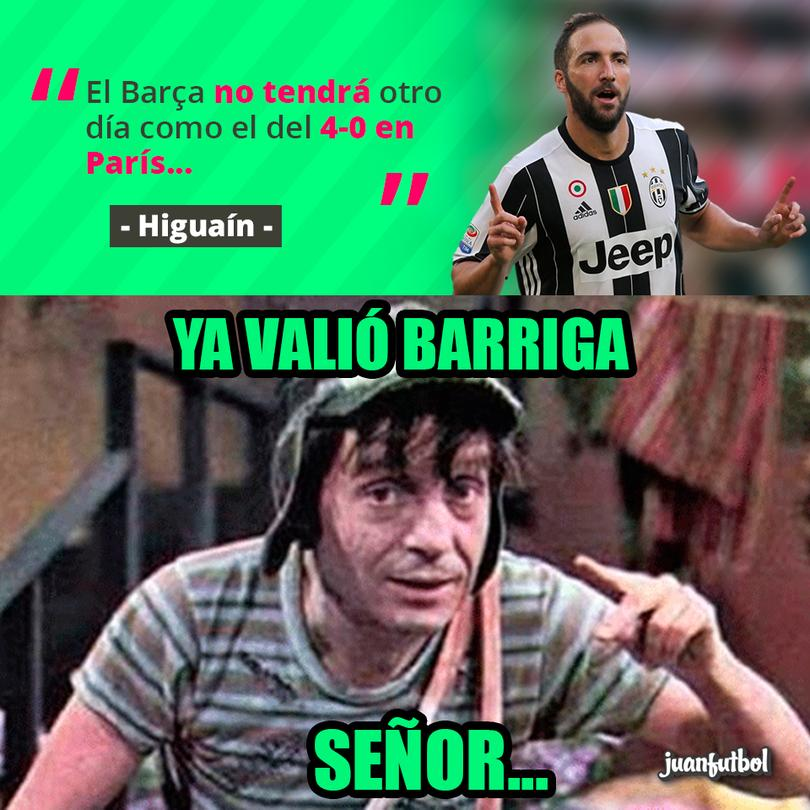 Higuaín sabe que al Barça no le pasa lo mismo dos veces