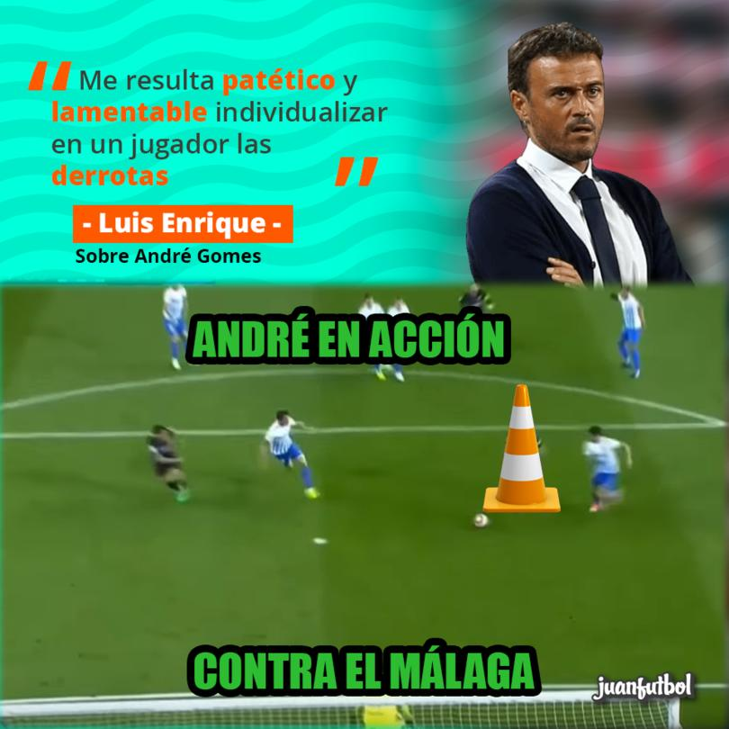 Luis Enrique defiende a André Gomes