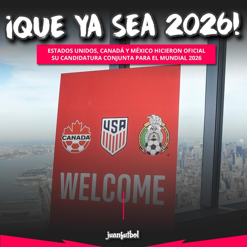 México, Estados Unidos y Canadá presentarán su candidatura conjunta para el 2026