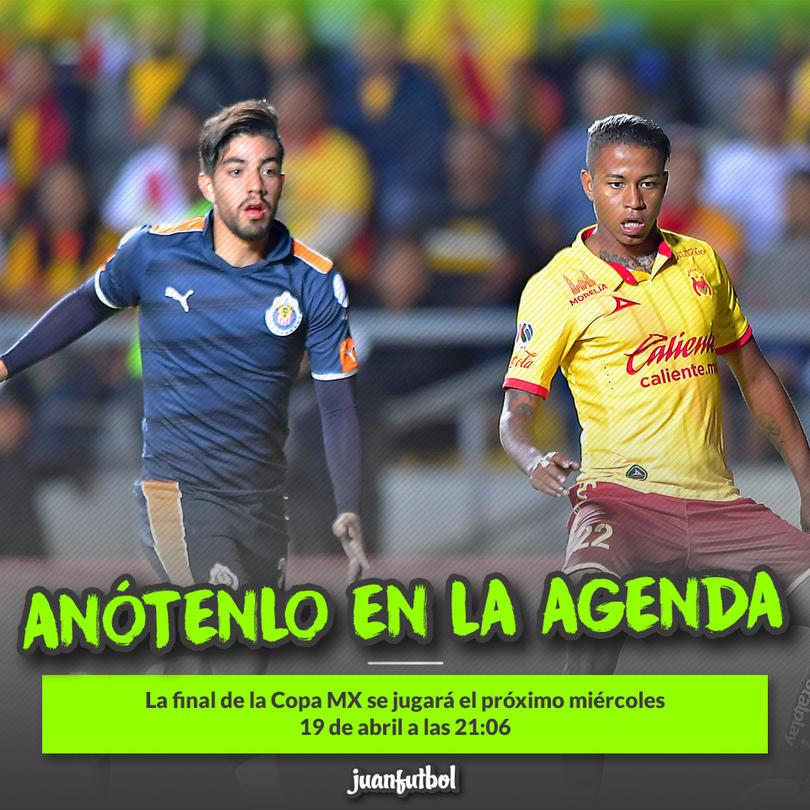Chivas y Morelia se enfrentarán el miércoles 19 de abril a las 9:06 p.m.