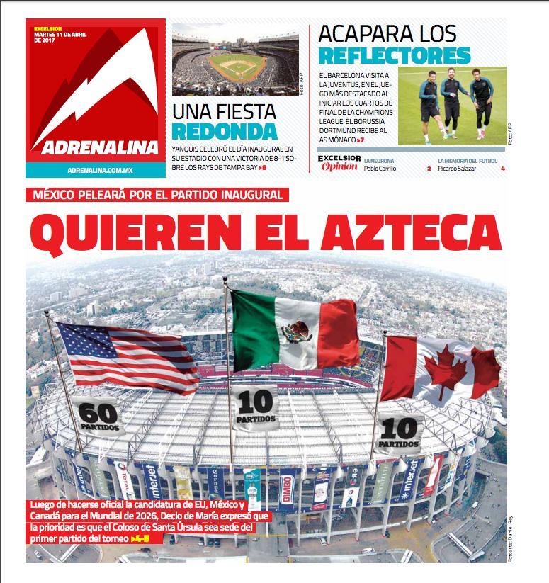 La prensa deportiva más importante del 11 de abril de 2017