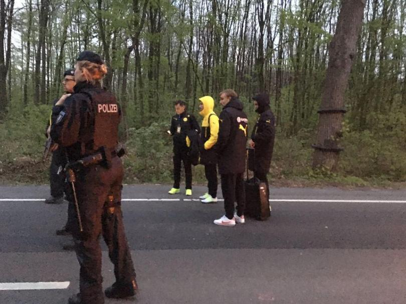 Así quedó el autobús del Dortmund después del ataque