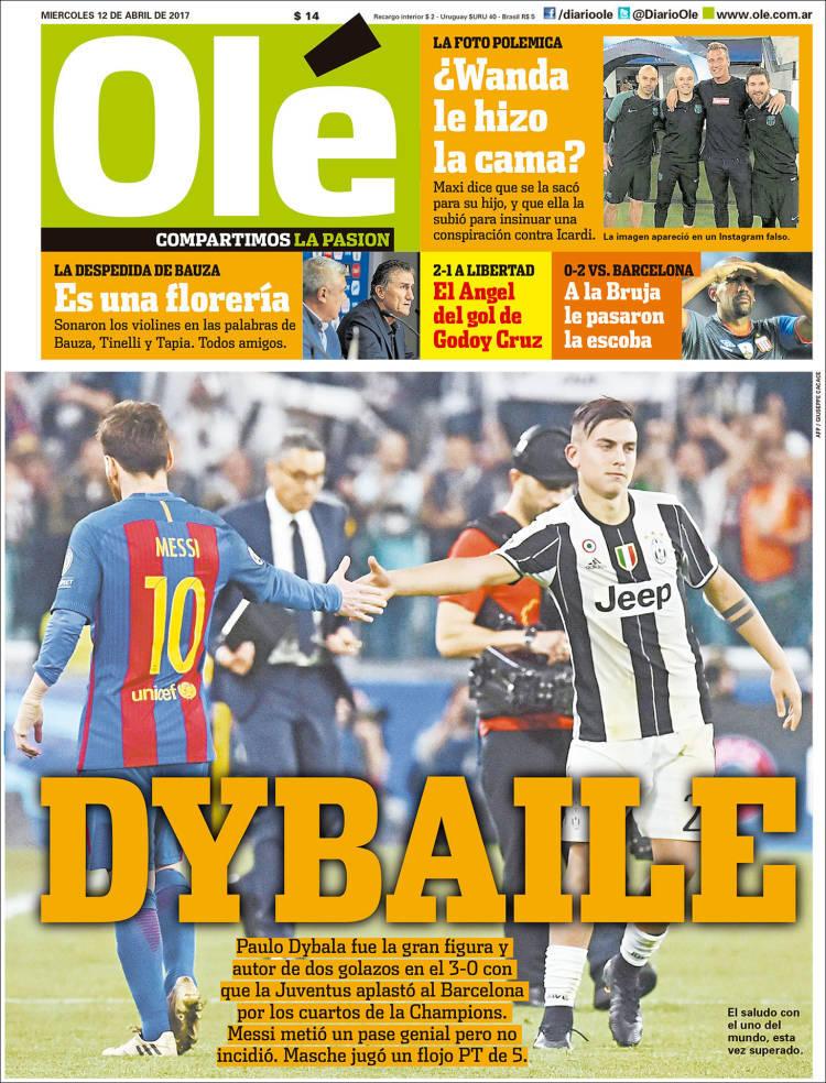 La prensa deportiva más importante del día 12 de abril del 2017.