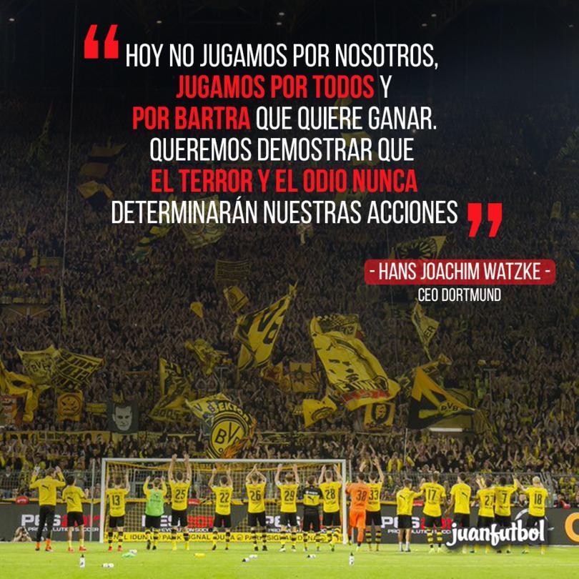 Dortmund dará todo en el campo