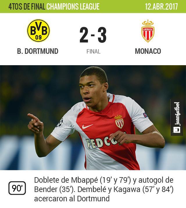 Mbappé le dio la victoria al Monaco