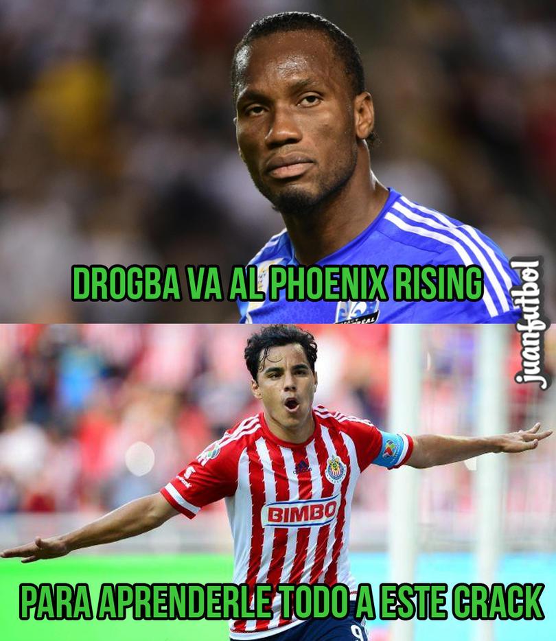 Didier Drogba será compañero de Omar Bravo