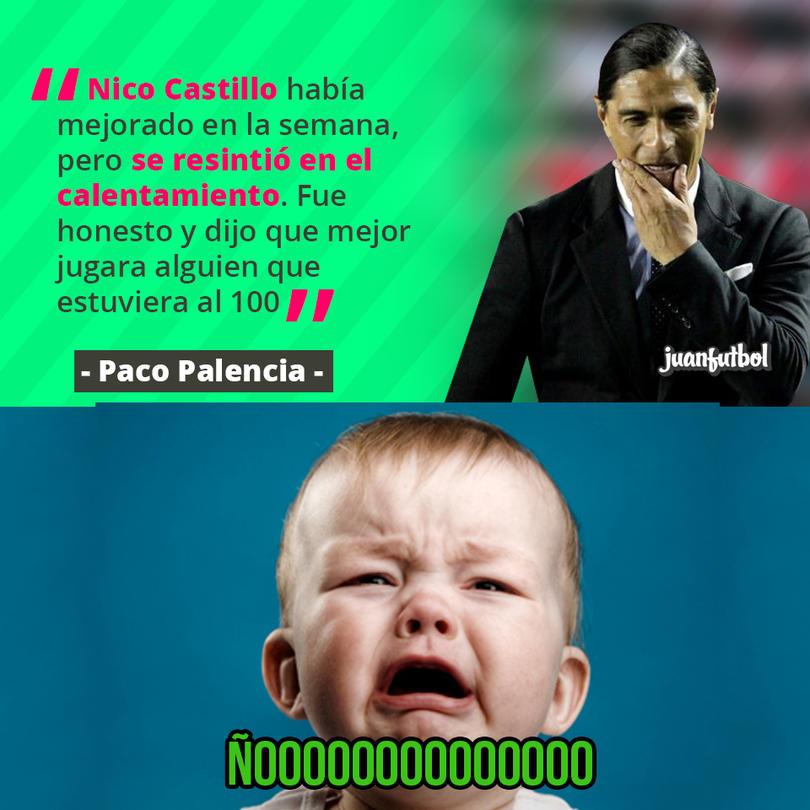 Nico Castillo se resintió de su lesión
