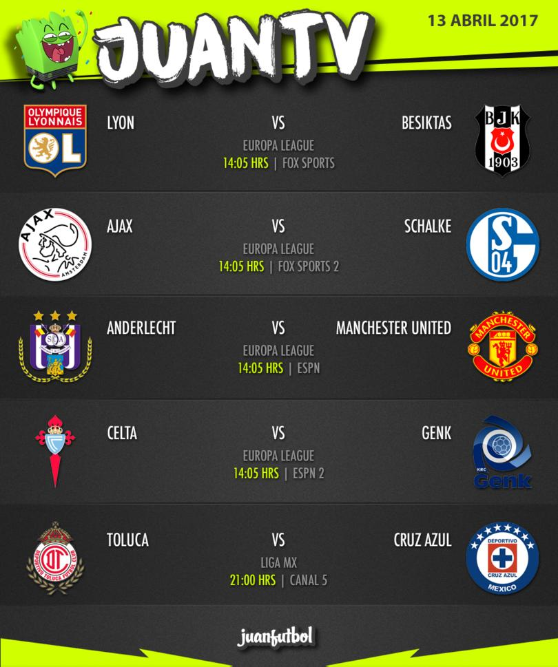 Agenda de los mejores partidos del 13 de abril.