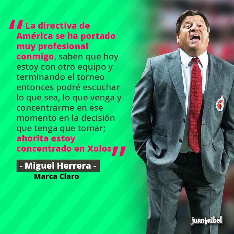 Miguel Herrera dice que podrá negociar con el América cuando el torneo termine