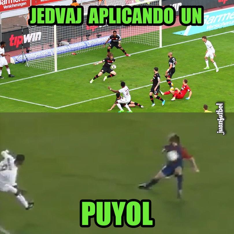 Jedvaj detuvo un gol del Bayern y nos hizo recordar a Puyol