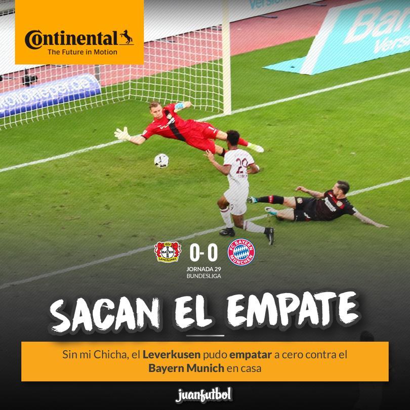El Leverkusen le empató al Bayern