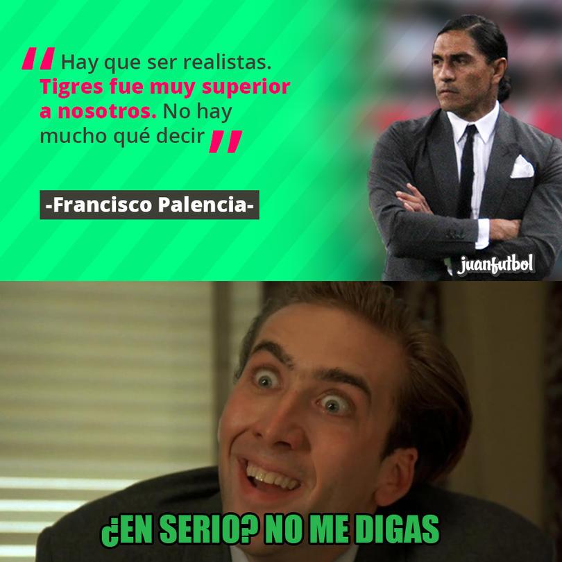 Palencia aceptó que Tigres les pasó por encima