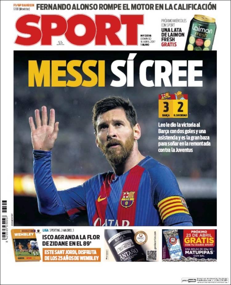 La prensa deportiva más importante del 16 de abril del 2017.