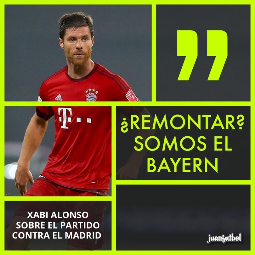 Xabi cree en la remontada del Bayern