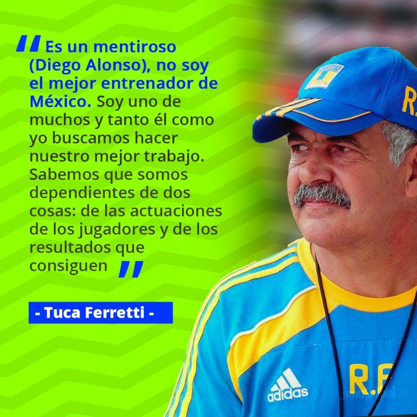 Tuca habla sobre las declaraciones de Diego Alonso, dijo que era el mejor entrenador del mundo.