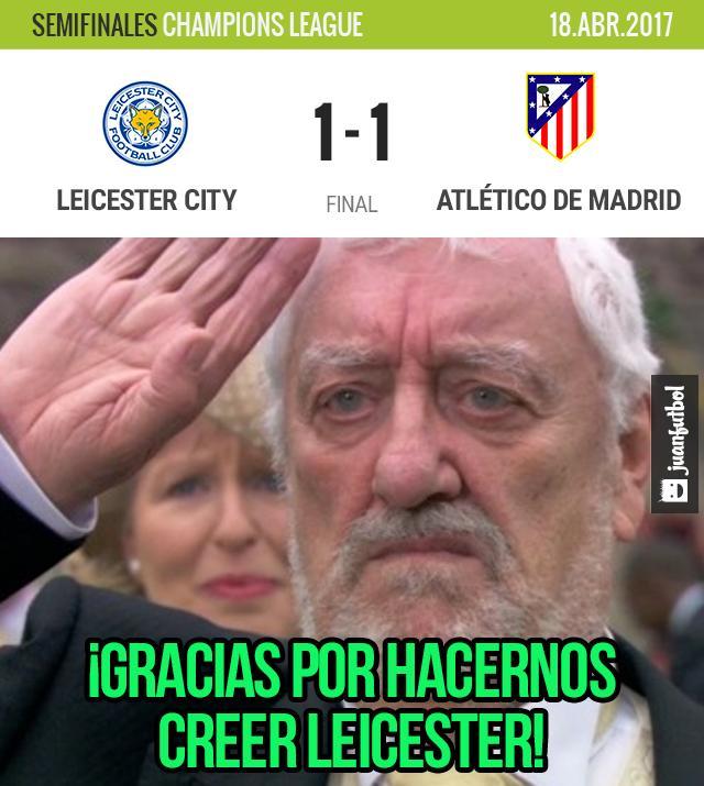 La despedida del Leicester City en Champions