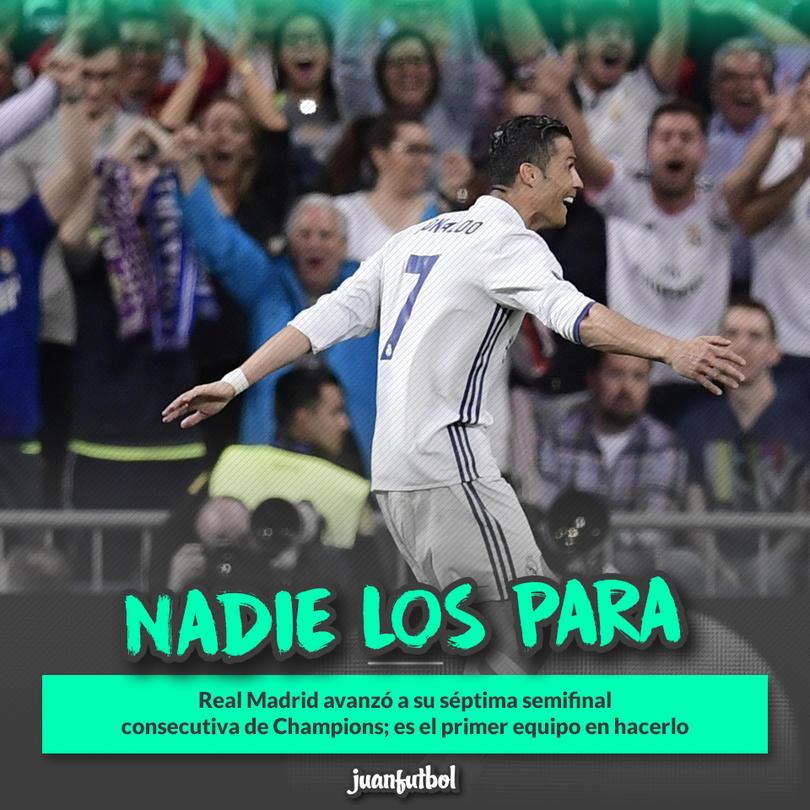 Real Madrid avanzó a su séptima semifinal consecutiva en Champions