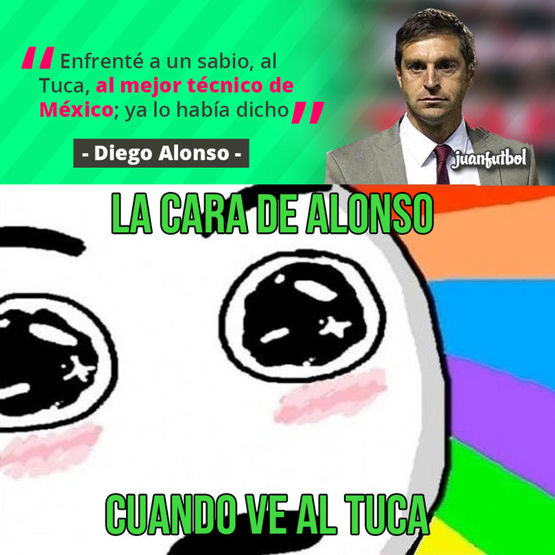Diego Alonso volvió a elogiar al Tuca