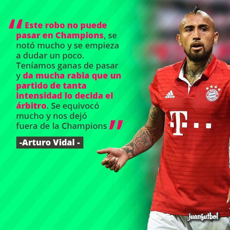 Arturo Vidal dice que fue un robo