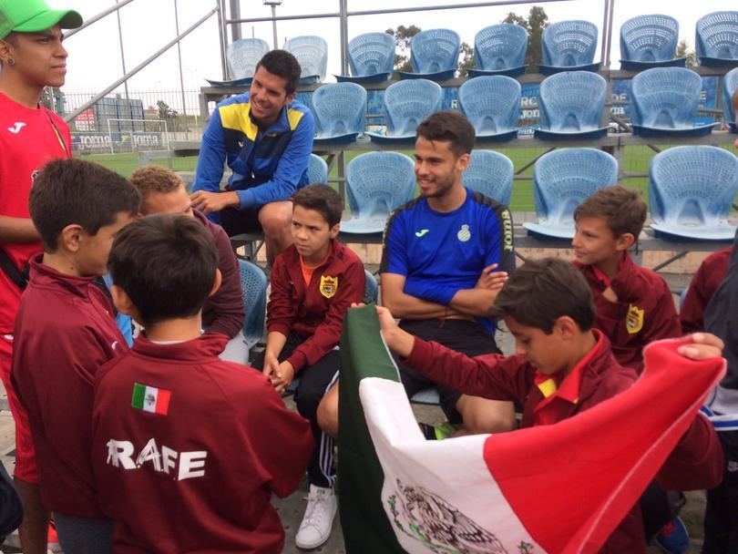 El Rafe visitó a Diego Reyes en España.
