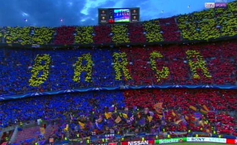 Así lució el mosaico del Barcelona.