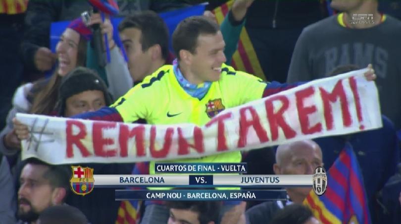 Así los aficionados del Barcelona que creen en la remontada.
