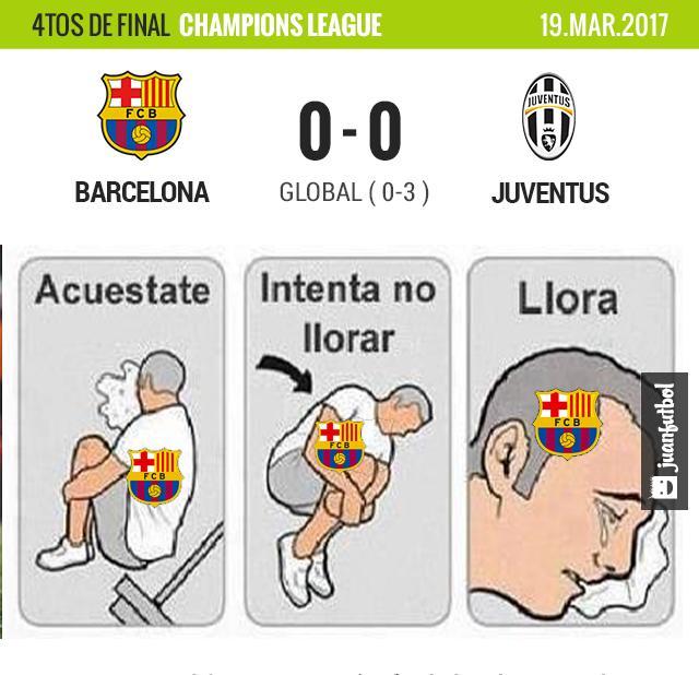 Barcelona queda eliminado de la Champíons League.