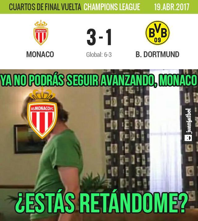 Mónaco gana al Dortmund