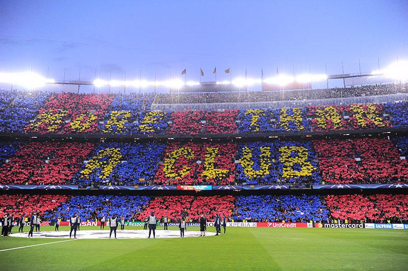 La afición del Barcelona apoyó en todo momento a su equipo