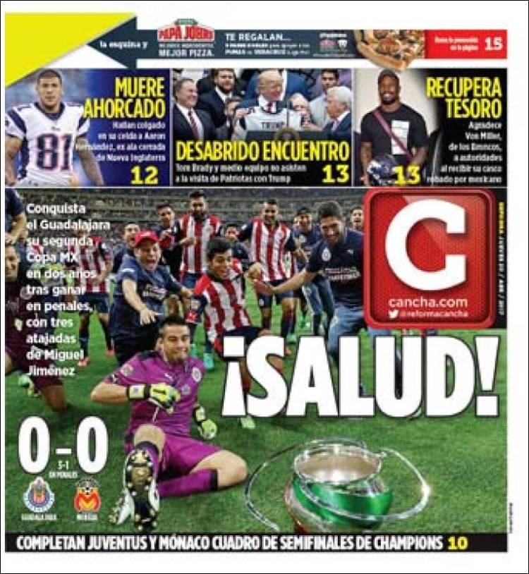 La prensa deportiva más importante del 20 de abril del 2017.