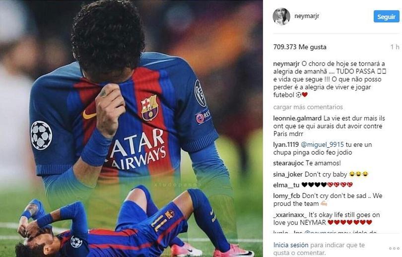 Mensaje de Neymar