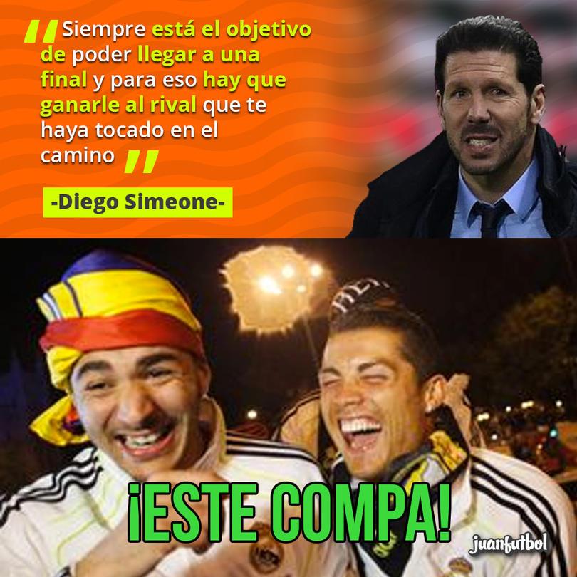 Simeone, técnico del Atlético de Madrid