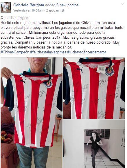 Aficionada de Chivas agradece regalo de su equipo