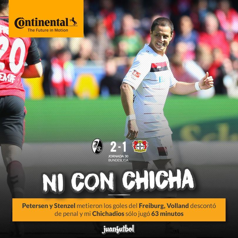 Mi Chicha ya fue titular pero aún así perdió el Leverkusen