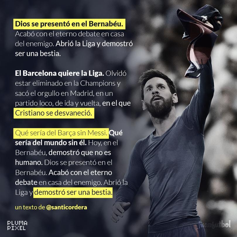 Messi demostró ser una bestia.