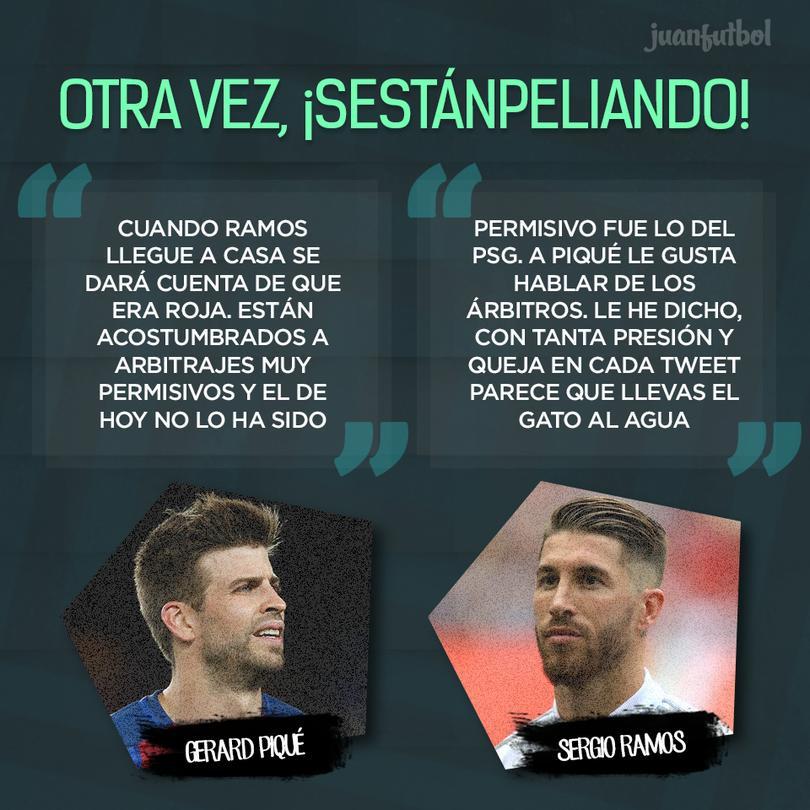 Además en Twitter, Piqué le dedicó una canción al Real Madrid