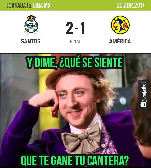 El América ya había empatado pero Santos ganó de último minuto.