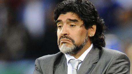 El Diego ya fue DT de Argentina en el Mundial del 2010 en Sudáfrica