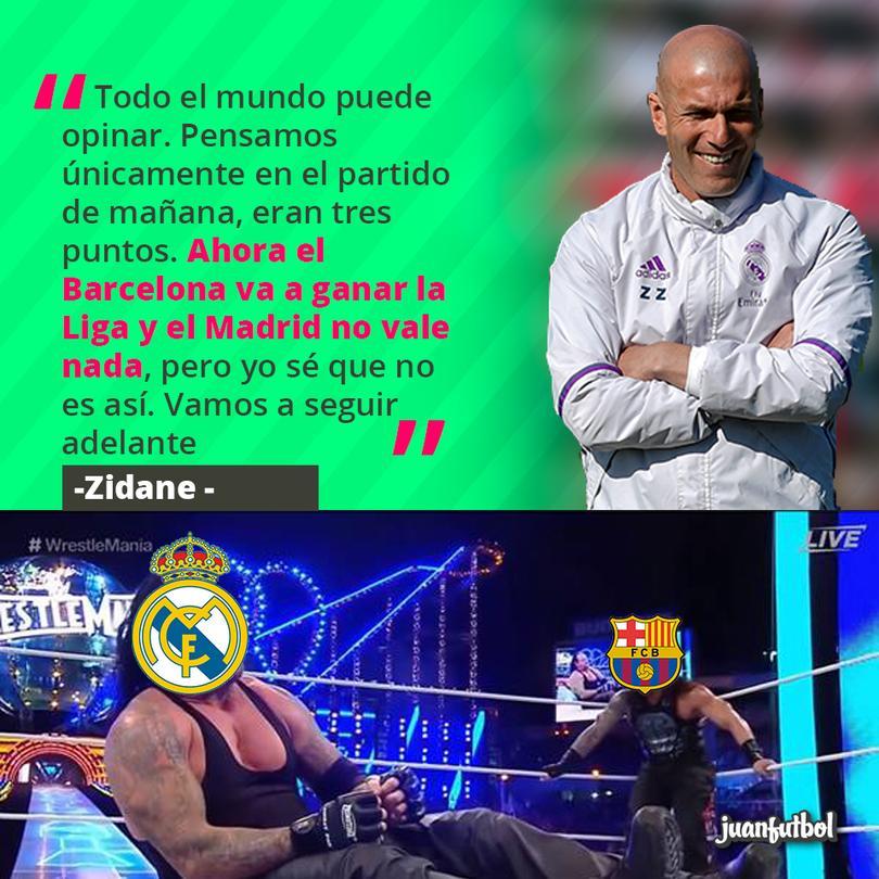 Zidane dijo que el Madrid no está muerto