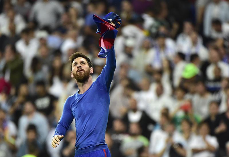 Messi tras el gol contra el Real Madrid